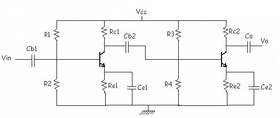 2 stage bjt amplifier ce amplifier circuit diagram 2 stage bjt amp ccuart Images